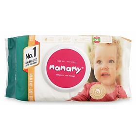 Khăn Ướt Mamamy Không Mùi (100 Miếng)