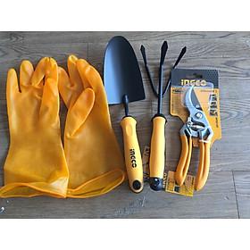 Bộ 4 dụng cụ làm vườn, trồng cây đa năng tiện lợi HFTT658 - HGR1008 - HPS0109 - HGVP02