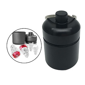 Waterproof Aluminum Pill Box Case Container Keychain Black