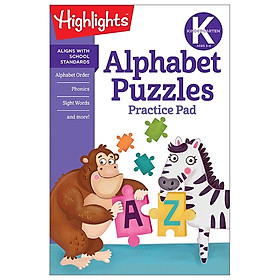 Kindergarten Alphabet Puzzles Practice Pad (Highlights Learn-on-the-Go Practice Pads)