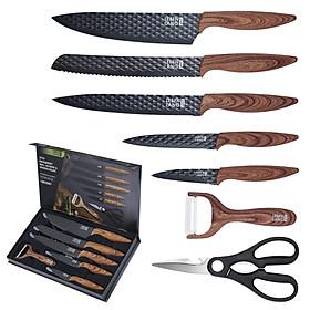 Bộ dao nhà bếp 7 món thiết kế đẹp chống dính không gỉ Lebenlang LBK2397 thương hiệu Đức