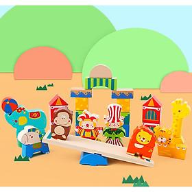 Đồ chơi thăng bằng xiếc động vật - The Circus Blocks (Từ 2-4 tuổi)