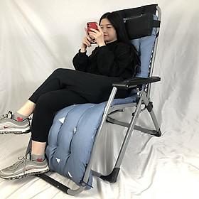 Ghế xếp ngủ thư giãn, ghế nằm đọc sách, văn phòng gia đình Ghế gấp khung hợp kim cao cấp không gỉ vải bố thay đổi kích thước nằm