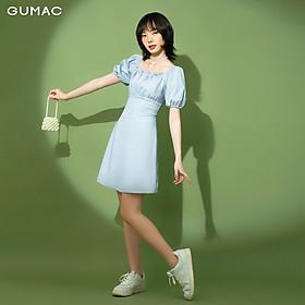 Đầm nữ nhún ngực tay thun GUMAC DB148