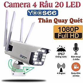 Camera Ip Wifi Ngoài Trời Yoosee GW-218S - 4 Râu Bắt Wifi Cự Mạnh  Full HD 1080P - Có Màu Ban Đêm - Hàng Chính Hãng