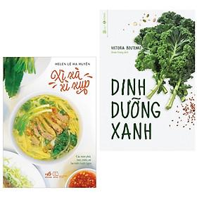 Combo 2 cuốn sách dậy nấu ăn rất tốt cho sức khỏe: Dinh Dưỡng Xanh + Xì Xà Xì Xụp ( Tặng kèm Bookmark Happy Life)