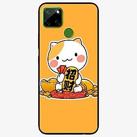 Ốp lưng dành cho Realme C12 mẫu Mèo Và Thỏi Vàng