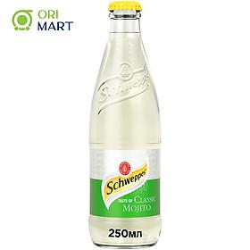 Schweppes Taste of Classic Mojito 250ml - Nước ngọt có ga vị cocktail cổ điển SCHWEPPES 250ml