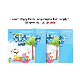 Combo 4 cuốn Happy family Cùng con phát triển năng lực Tiếng Việt lớp 1 (A-B)