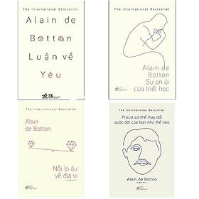 Combo Luận Về Yêu + Sự An Ủi Của Triết Học + Nỗi Lo Âu Về Địa Vị + Proust Có Thể Thay Đổi Cuộc Đời Của Bạn Như Thế Nào