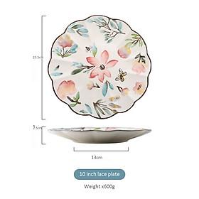 Creative green plant ceramic tableware, rice bowl, steak plate, restaurant plate, noodle bowl, seasoning dish, dessert plate