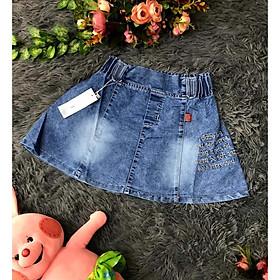 Chân váy jeans chữ thuê xòe siêu cưng(1>8)