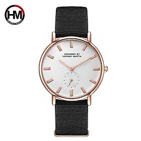 Đồng hồ dây da SHIHE Hannah Martin 2138 kiểu dáng sang trọng dành cho nữ HM-2138CB