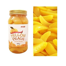 Đào vàng lát ngọt Wellheim Korea 680g - Nhập khẩu Hàn Quốc