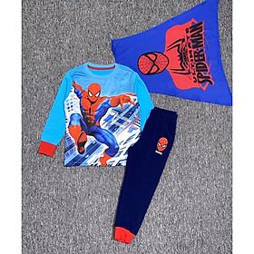 Bộ dài tay siêu nhân nhện 3 chi tiết bé trai 3-10 tuổi