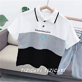 (12-30kg)Áo thun cotton cộc tay cho bé- Áo polo Thời trang trẻ Em hàng quảng châu