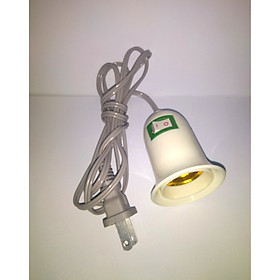 Dây đui đèn xoáy E27 có công tắc bật/tắt, dây cắm dài 147cm