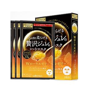 Mặt Nạ Dưỡng Ẩm Làm Mịn Da Sữa Ong Nhật Bản Utena Cezanne (3 Miếng)
