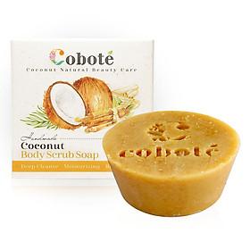 Xà bông dừa Tẩy tế bào chết Coboté - Vỏ quế - Handmade - 100% thiên nhiên - Công thức dừa toàn phần