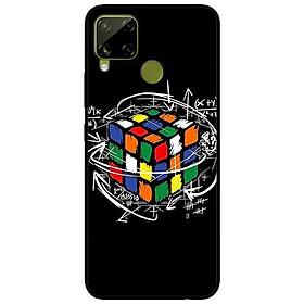 Ốp lưng dành cho Realme C15 mẫu Rubik Toán Học