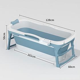 Bồn tắm Silicon cao cấp cho cả gia đình- Bồn tắm người lớn gấp gọn-size 1m28-hàng chính hãng