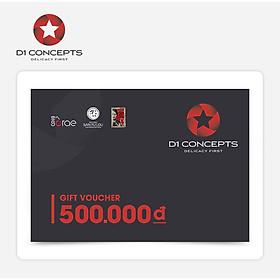 D1-Concepts - Phiếu Quà Tặng 500k