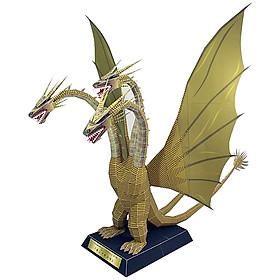 Mô hình giấy cắt dán thủ công Quái vật King Ghidorah - Godzilla