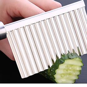 Dao cắt sóng tạo kiểu inox 304 - 22.5x6cm 75g