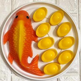 Bộ 2 khuôn cá chép, thỏi vàng