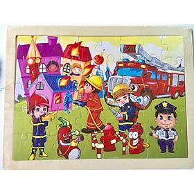 Tranh ghép hình gỗ 40 mảnh cho bé - Combo 3 tranh ghép hình BK02