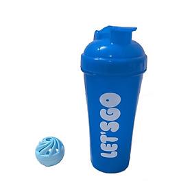Bình nước tập Gym, Bình lắc Shaker thể thao 700ml , tặng kèm bóng lắc
