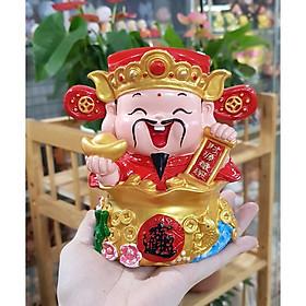 Tượng chibi Thần Tài chậu vàng 14cm Tấn Tài Tấn Lộc mẫu đặc ruột