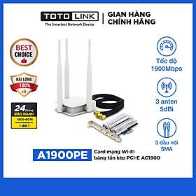 Card Mạng Wi-Fi PCI-e Băng Tần Kép AC1900 TOTOLINK A1900PE - Hàng Chính Hãng