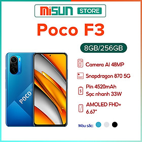 Điện Thoại Thông Minh Xiaomi Poco F3 8GB l 256GB - Hàng Chính Hãng