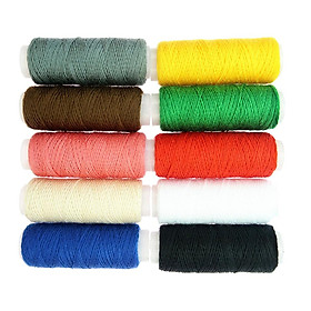 10 Colors Roll Polyester Sewing Thread Box Kit Set For Home Sewing Machine