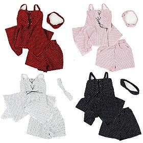 Bộ bé gái dây kèm băng đô vải chấm bi cực xinh cho bé 1 đến 7 tuổi từ 8 đến 22kg 06723-06726