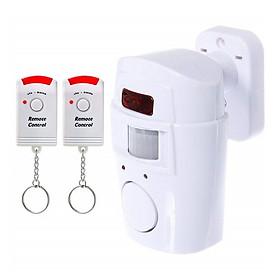 Hệ Thống Báo Động An Ninh Chống Trộm KhoNCC Hàng Chính Hãng - Cảm Biến Hồng Ngoại Chuyển Động Không Dây Có 02 Remote Điều Khiển Từ Xa - KQT-AlarmSensors (Màu trắng)