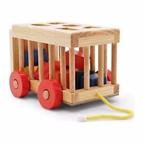 Đồ chơi xe cũi thả hình cho bé