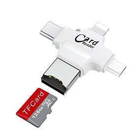 Đầu đọc thẻ nhớ hỗ trợ iPhone, điện thoại android, máy tính, macbook