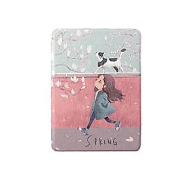 Bao da Máy đọc sách Kindle PaperWhite 2018 gen 4 (10th) - Girl and Cat - Hàng nhập khẩu