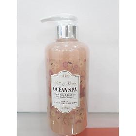 Sữa tắm Muối biển tẩy tế bào chết Ocean Spa 3w Clinic Hàn Quốc 500ml