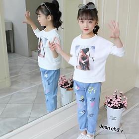 quần jean bé gái cực hót phong cách Hàn Quốc size 11-33kg