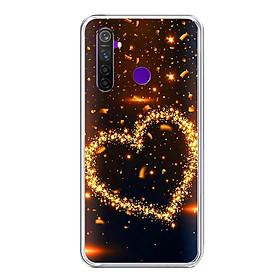 Ốp lưng điện thoại Realme 5 Pro - Silicon dẻo - 0418 HEART09 - Hàng Chính Hãng
