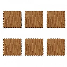Bộ Thảm xốp lót sàn vân gỗ gồm 6 miếng