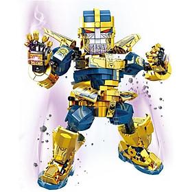 Lắp Ráp Xếp Hình Marvel Super Heroes Mô Hình Ác Nhân Thanos 785 Khối SY1319 - Đồ Chơi Trẻ Em