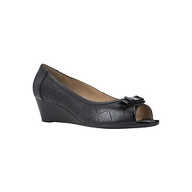 Giày Hở Mũi Đế Xuồng GEOX D Floralie A Nappa+Gbk Pat Black - Đen