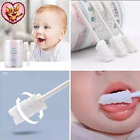 Hộp 30 gạc rơ lưỡi tiệt trùng dạng que và Vcool, que gạc rơ lưỡi thần thánh an toàn vệ sinh  cho bé