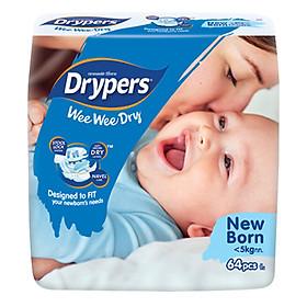 Tã Dán Drypers Wee Wee Dry Newborn NB64 (64 Miếng)-0