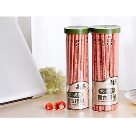 Hộp 50 bút chì gỗ 2B Y310 cao cấp, Tặng kèm Combo 10 bút bi nước màu xanh văn phòng