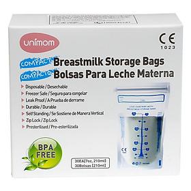 Hộp 30 Túi Đựng Sữa Mẹ (Trữ Sữa Mẹ) Compact Unimom UM870251 (210ml)-1